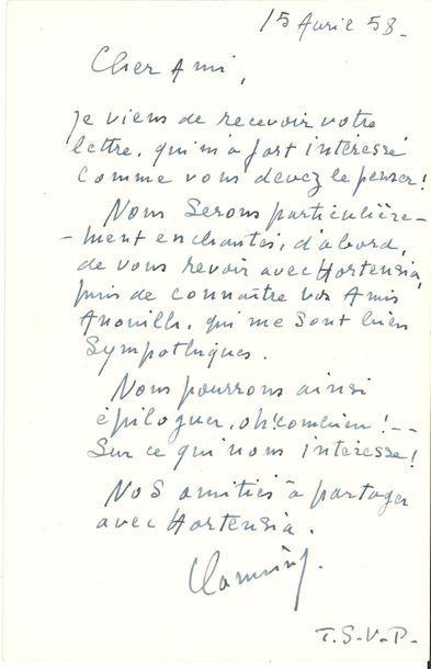 Maurice de VLAMINCK (1876-1958). L.A.S.,...