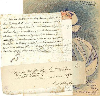 BEAUX-ARTS. 30 lettres, dessins ou photographie...