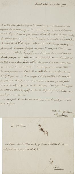 MARIE-LOUISE (1791-1847) Impératrice des Français, seconde femme de Napoléon Ier....