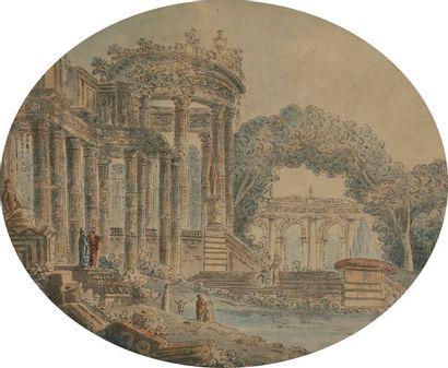 ÉCOLE de Jean-Henry Alexandre PERNET Ruines...