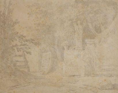 Hubert ROBERT (1733-1808) Femme à la fontaine...