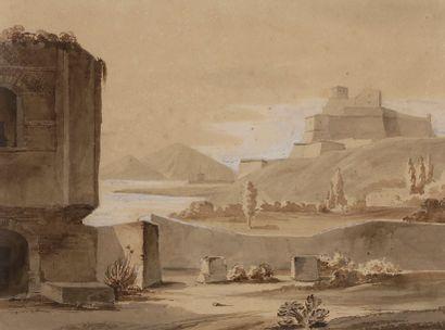 Louis BENOIS (1796-1873) Golf de Pozzuoli...