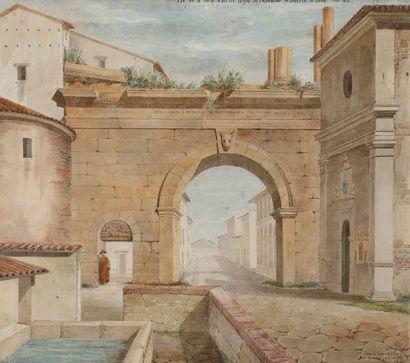 Louis BENOIS (1796-1873) Vue du Château...