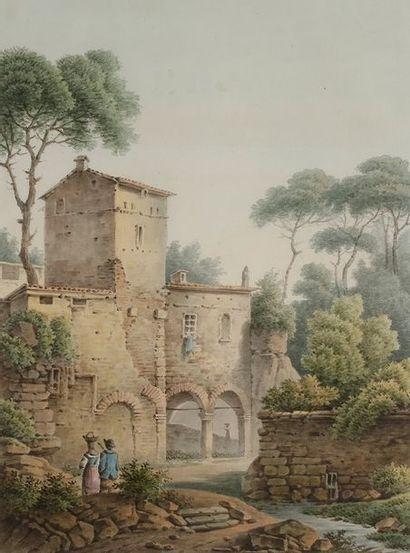 Antoine-Jean DESPLAN (1790-1873) Auberge...
