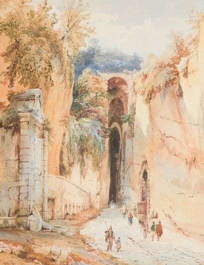 Achille Vianelli (1803-1894) La grotte...