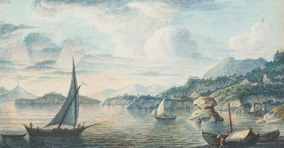 ÉCOLE ITALIENNE du XIXe siècle La grotte...