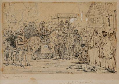 Eugène Louis LAMI (1800-1890) Scène de...