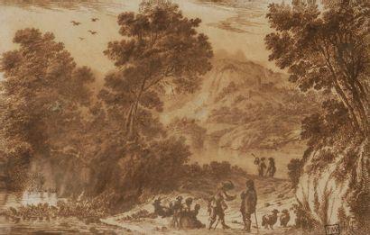 ÉCOLE FLORENTINE du XVIIe siècle Conversation...