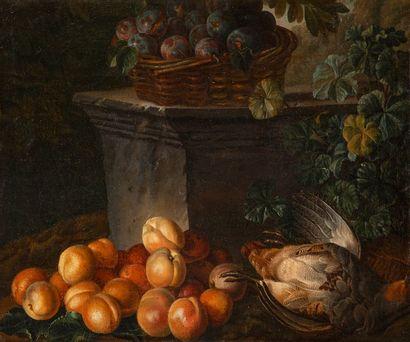 ÉCOLE Française vers 1720, atelier d'Alexandre François DESPORTES Natures mortes...