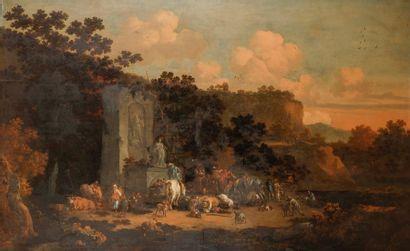 Peter BOUT (Bruxelles 1658-1719) La halte...