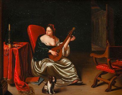 Attribué à JAN Van MIERIS (1660-1690) Jeune...