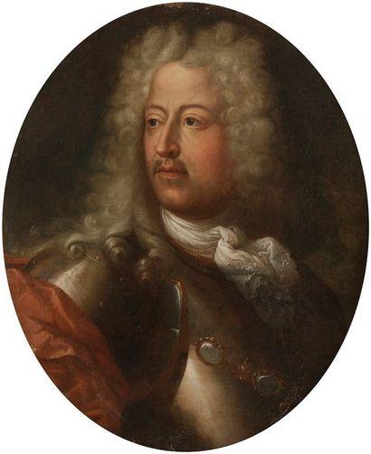 ÉCOLE AUTRICHIENNE vers 1700 Portrait d'homme...