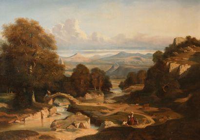 Attribué à Paul Jean FLANDRIN (Lyon 1811-Paris...