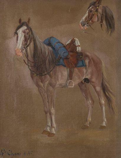 École française du XIXe siècle Étude de cheval...
