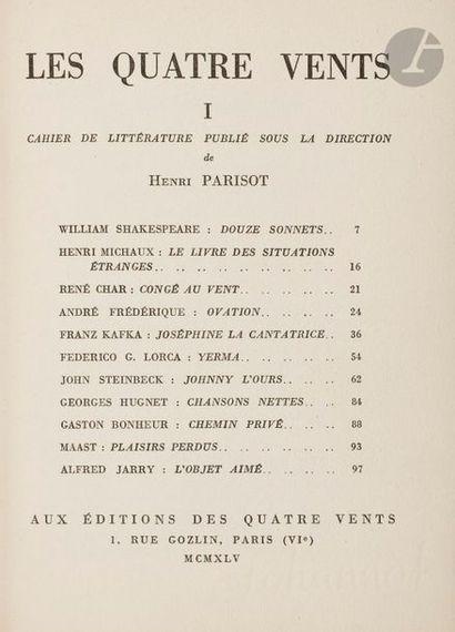PARISOT (Henri). Les Quatre vents. Cahier...