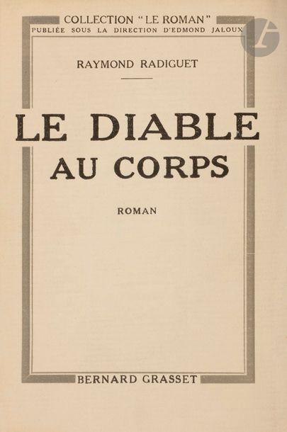 RADIGUET (Raymond) Le Diable au corps. Roman....