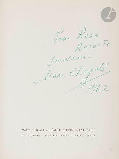CHAGALL (Marc). Vitraux pour Jérusalem. Introduction...