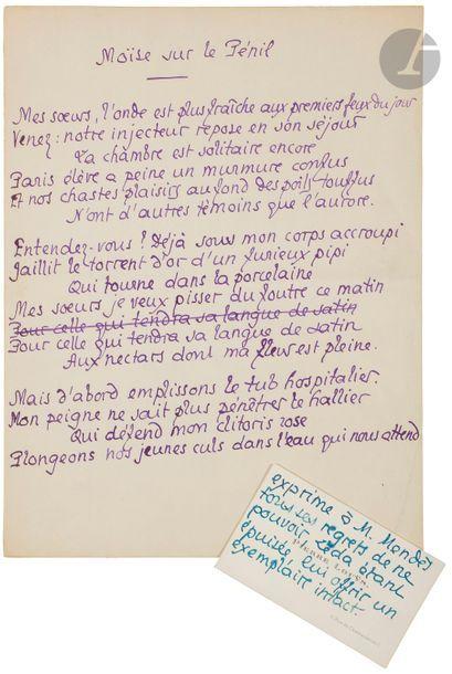 CHIMOT (Édouard) - LOUŸS (Pierre). Poèmes...