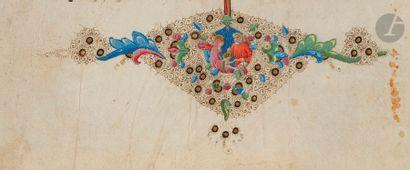 Bas-de-page historié. Adoration des rois...