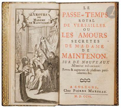[MAINTENON (Madame de]. Le Passe-temps royal...