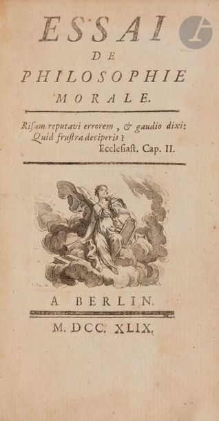 [MAUPERTUIS (Pierre-Louis Moreau de)]. Essai...