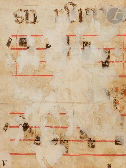 Initiale « D » historiée. Saint Joseph ou saint Mathias ? Fragment d'un antiphonaire...