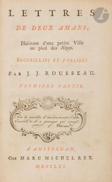 ROUSSEAU (Jean-Jacques). Lettres de deux...
