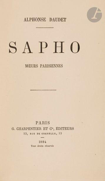 DAUDET (Alphonse). Sapho. Mœurs parisiennes....