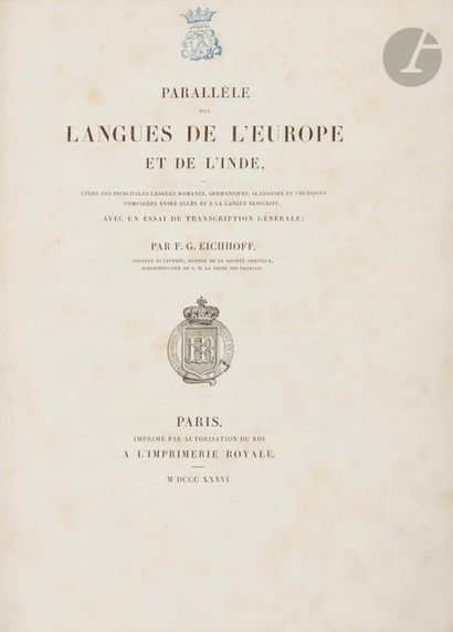 EICHHOFF (Frédéric Gustave). Parallèle des...