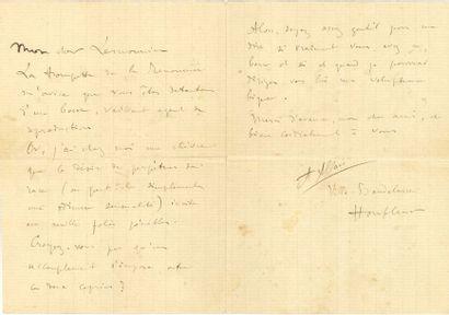 Alphonse ALLAIS (1854-1905). 3 L.A.S., [Honfleur...