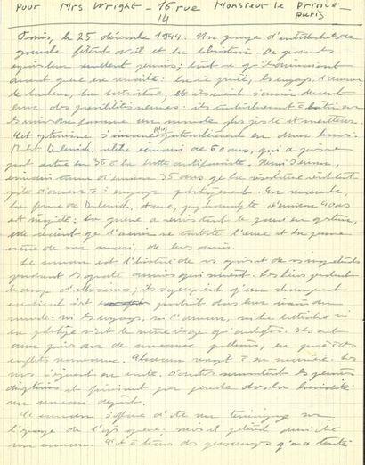 Simone de BEAUVOIR. Manuscrits autographes...