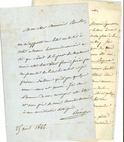 Pierre-Jean de BERANGER (1780-1857). 13 L.A.S.,...