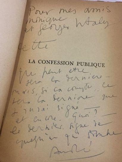 André de RICHAUD. La Confession publique...