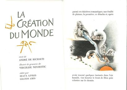 André de RICHAUD. La Création du Monde. Gravures...