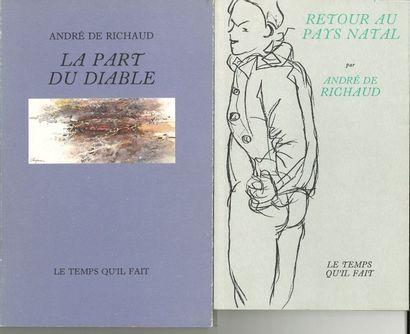 André de RICHAUD. 5 éditions originales posthumes,...