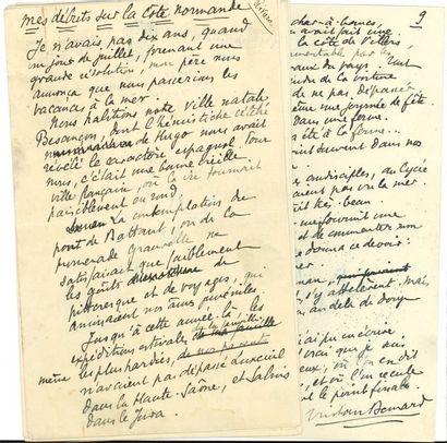 Tristan BERNARD (1866-1947). Manuscrit autographe...