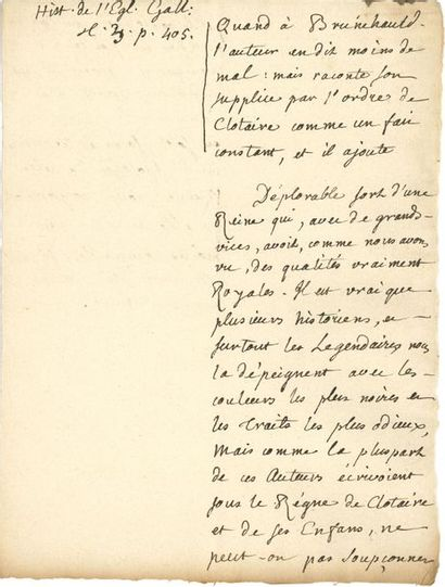 Jean-Jacques ROUSSEAU (1712-1778). Manuscrit...