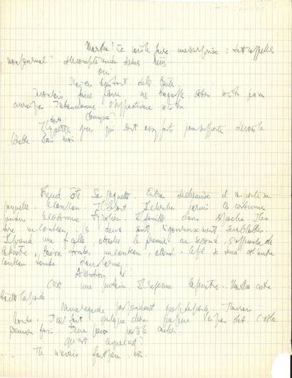 Jean-Paul SARTRE (1905-1980). Manuscrit autographe,...