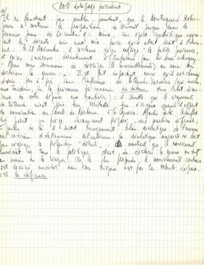 Jean-Paul SARTRE. Manuscrit autographe;...