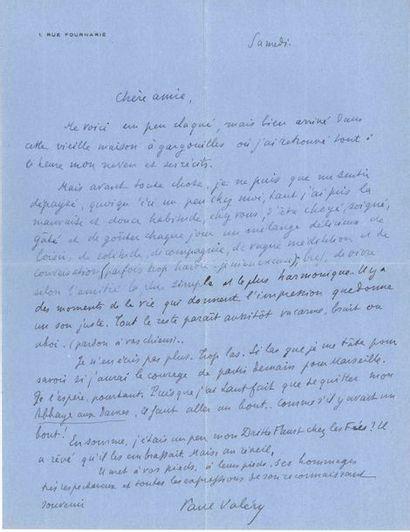 Paul VALÉRY. 20 L.A.S., 1 L.S. et 1 lettre...