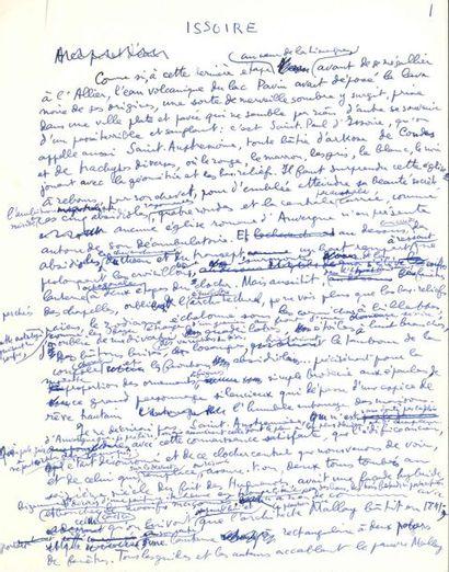 Louis ARAGON (1897-1982). 2 manuscrits autographes...