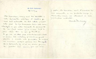 Claude DEBUSSY. L.A.S., 29 novembre 1903,...