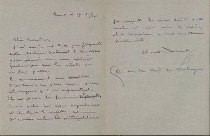 Claude DEBUSSY. L.A.S., 19 janvier 1906;...