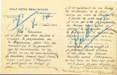 Édouard BOURDET (1887-1945). 45 L.S. et 31...