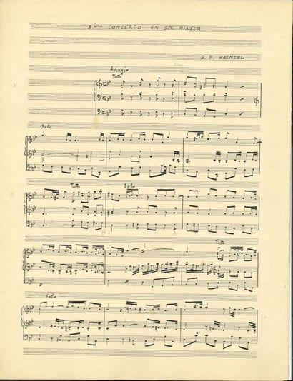 Marcel DUPRÉ (1886-1971). Manuscrit musical...
