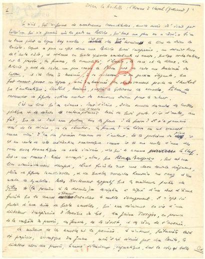 Robert BRASILLACH (1909-1945). Manuscrit...