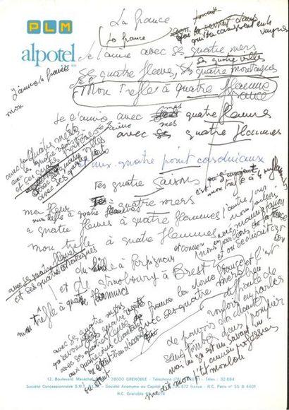 Marcel MOULOUDJI (1922-1994). 34 manuscrits...