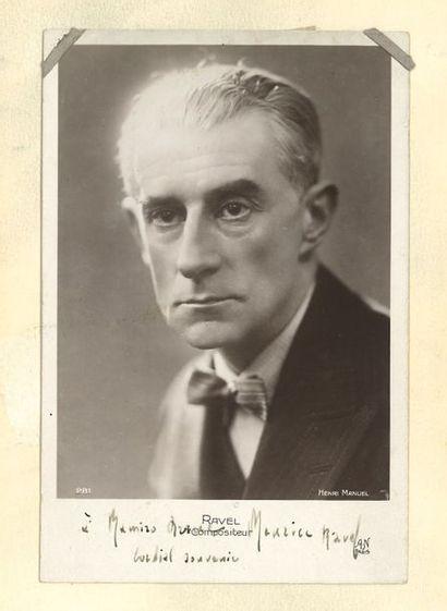 Maurice RAVEL (1875-1937). Photographie avec...