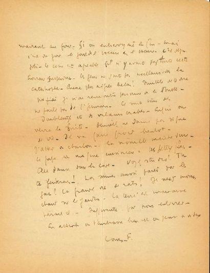Louis-Ferdinand CÉLINE (1894-1961). L.A.S....