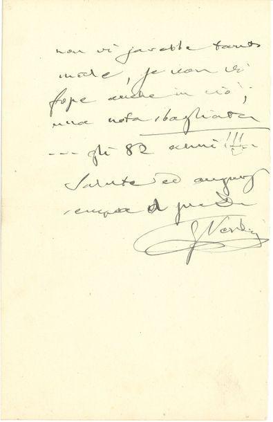 Giuseppe VERDI. L.A.S., Genova (Gênes) 18...